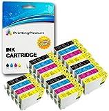 20 (5 SETS) Compatible 27XL Printer Ink Cartridges for Epson WorkForce WF-3620DWF, WF-3640DTWF, WF-7110DTW, WF-7610DWF, WF-7620DTWF / T2711, T2712, T2713, T2714