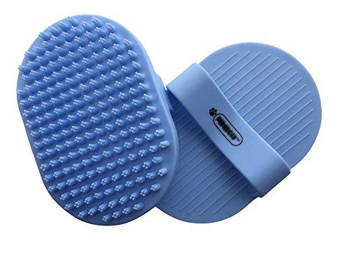 Pixikko Pet Curry Shampoo Brush/Comb for Bathing – Massaging – Deshedding – on Wet or Dry Hair 1-PC