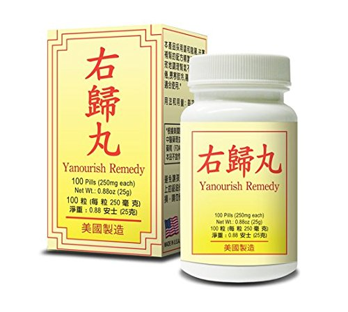 Yanourish Remedy Herbal Supplement Helps for Natural Balance Overall Well-Being 250mg 100 Pills Made In USA (Wan Gui You)