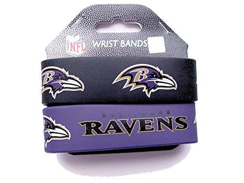 (NFL Baltimore Ravens Sports Team Logo Kids Teens Fashion Wear Wrist Band Set Of)