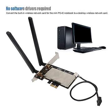 ASHATA Tarjeta WiFi PCIe, Tarjeta WiFi inalámbrica Bluetooth ...