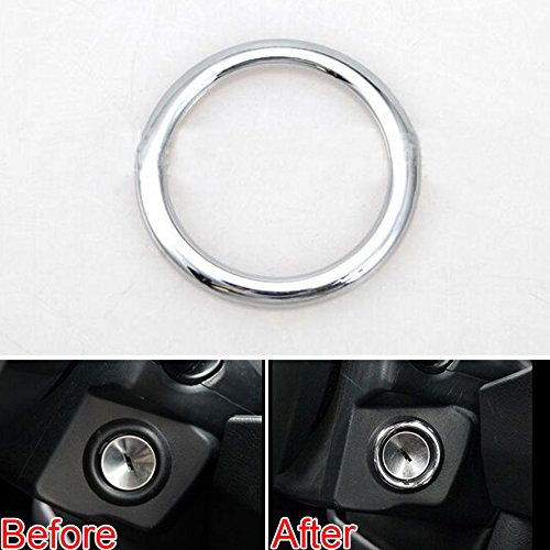 Highitem Chrome Ignition Switch Key Knob Cover Dec Ring Trim For Jeep Compass Patriot 2011-2016