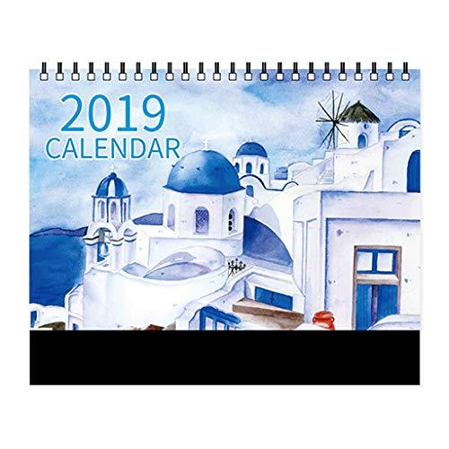 Simple y Creativo 2019 Calendario de Escritorio Oficina Plan semanal Calendario Decoración Calendario Personalizado,...