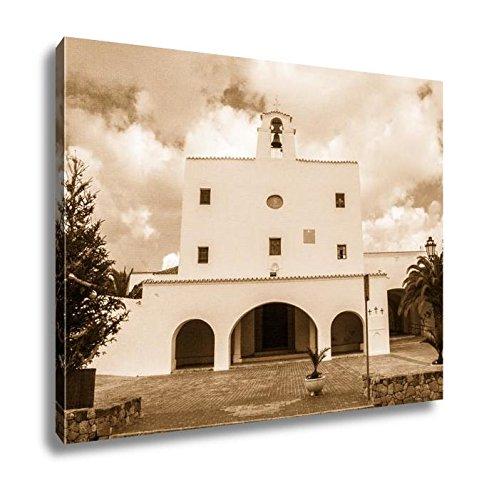 Ashley Canvas Church Of Sant Josep De Sa Talaia, Kitchen Bedroom Living Room Art, Sepia 24x30, AG6535339 by Ashley Canvas