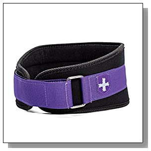 Harbinger Women's Nylon Weightlifting Belt with Flexible Ultralight Foam Core, 5-Inch, Purple, Medium