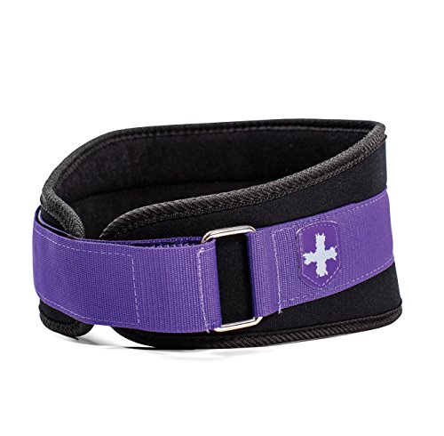 Purple Weight - Harbinger Women's Nylon Weightlifting Belt with Flexible Ultralight Foam Core, 5-Inch, Purple, Small
