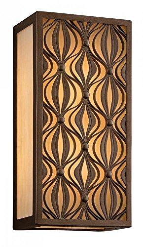 Lighting Corbett Bronze (Corbett Lighting 135-23-F Mambo One Light Wall Lantern with Honey Glass, Mambo Bronze Finish)