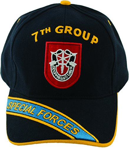 7th Special Forces Group Hat with SF Flash and Unit Crest with Embroidered Bill