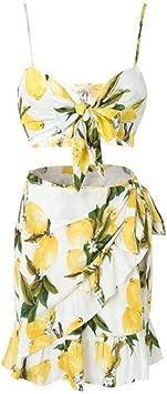 LILIJIA zestaw damskich spÓdnic do pępka z wyeksponowanymi kwiatami i dekoracyjnymi ramiączkami, zestaw do spÓdnic plażowych, XL: Küche & Haushalt