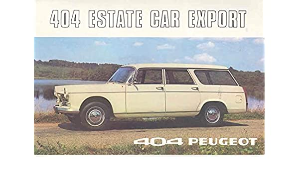 Amazoncom 1969 Peugeot 404 Station Wagon Sales Brochure