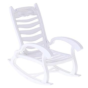 Für Puppenhaus Dekoration Weiße 1 Miniatur Garten Stühle 12 2x Runde nvNOywm80P