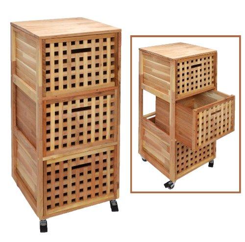 Armario c moda con ruedas mueble de ba o estante Muebles de bano con ruedas