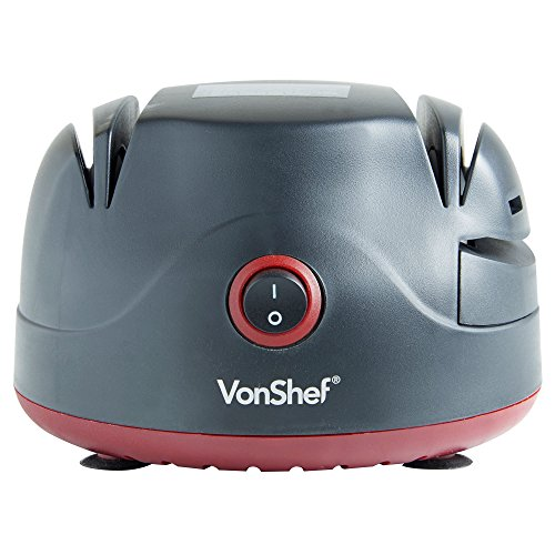 VonShef Electric Two Stage Knife Sharpener with Screwdriver Sharpening Port...