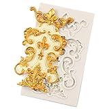 Xeminor Premium Lace Flower Silicone Fondant Mold Wedding Cake Sugarcraft Mold Decoration