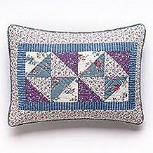 Selena Quilts: Standard Sham Purple, Blue, White-Laura Ashley
