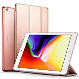 iPad 2017 iPad 9.7 inch Case, ESR Lightweight Smart Case Trifold Stand with Auto Sleep/Wake Function, Microfiber Lining, Hard Back Cover for Apple iPad 9.7-inch,Rose Gold