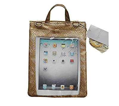 Quality Pu Leather Messenger Bag for tablets,with phone pocket & clear window for tablet use, Pad Pocket