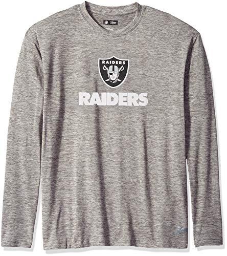 - Zubaz NFL Oakland Raiders Male Long Sleeve T-Shirt, Large, Gray