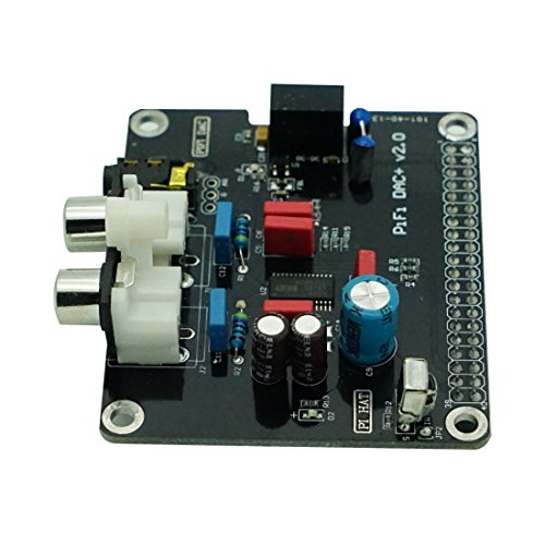 Geekteches HiFi DAC Audio Sound Card Module Board, Audio and Video Component Amplifier for Raspberry...