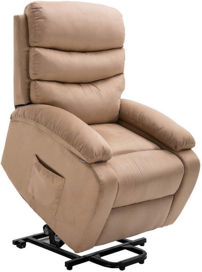 Homegear Microfibre Power Lift Electric Recliner Chair w/Massage