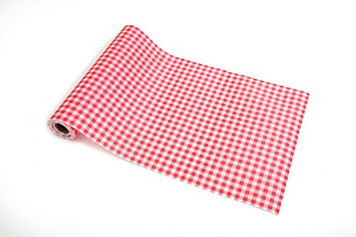 - Gingham Non-adhesive Shelf Liner Paper Roll for Kitchen Bathroom Cabinets Drawer Shelves Refrigerator Closets 17.7x117 Inches (Red)