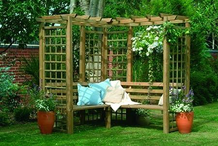 4 plazas fixthedrip Arbour Pagoda enrejado de madera para jardín ...