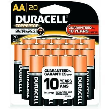 Amazon.com: Duracell MN15RF20Z22 CopperTop Alkaline