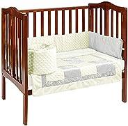 Baby Doll Bedding Croco Minky Mini Crib/Port-a-Crib Bedding, Beige/Ivory
