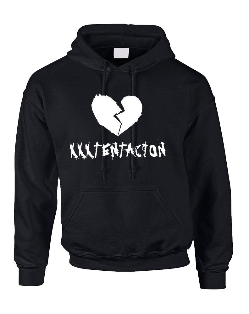 Allntrends Adult Hoodie Xxxtentacion Trendy Top Hot Cool Rap Sweatshirt (M, Black)