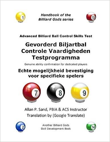 Gevorderd Biljartbal Controle Vaardigheden Testprogramma: Echte mogelijkheid bevestiging voor specifieke spelers