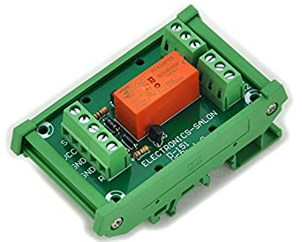 electronics salon bistable  latching dpdt 8 amp relay module  dc5v coil  with din rail carrier Bistable Latching Single Coil Relay Bistable Dpdt Latching Relay