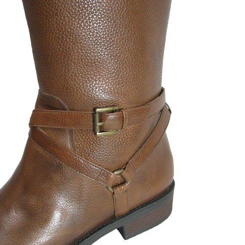Enzo Angiolini Womens Saevon Leather Harness Boot Dark Natural kuJcxY
