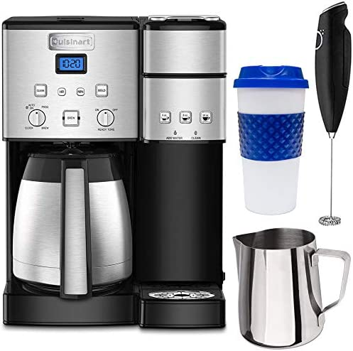 Cuisinart SS-20 Coffee Center 10-Cup Thermal Single-Serve Brewer Coffeemaker Silver SS-20