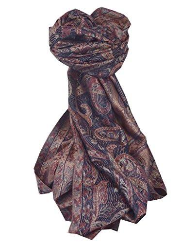 Etole Pashmina 100% Soie Prime Motif Jamawar ID3437 par Pashmina & Silk