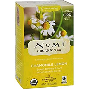 Numi Organic Tea Chamomile Lemon - 18 Tea Bags