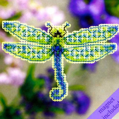 Dragonfly Beaded Counted Cross Stitch Ornament Kit Mill Hill 2011 Spring Bouquet MH18-1104 by Mill Hill B004KGBW8O
