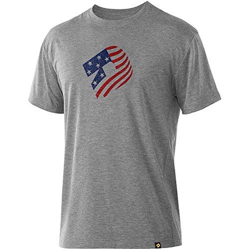 Demarini WTD206229 Gray Youth Small Graphic T-Shirt Baseball American Flag