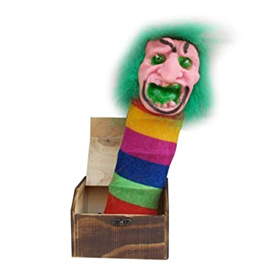 Alexsix Wooden Prank Scare Box Surprise Joke Horror Funny Halloween Prank Toys: Hogar