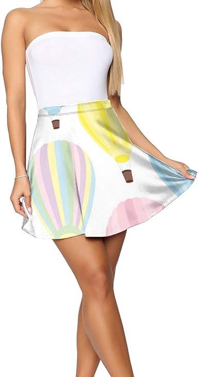 Falda Corta Mujer Verano 2019, Pastel Hot Air Balloon_21: Amazon ...
