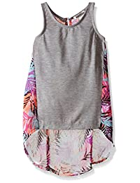 kensie girls Jersey Tank and Printed Chiffon Pullover Top