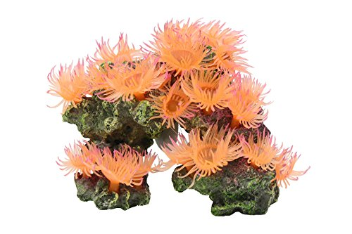 Vitality SH310 Faux Coral Aquarium Decorating Ornament, Light Orange -