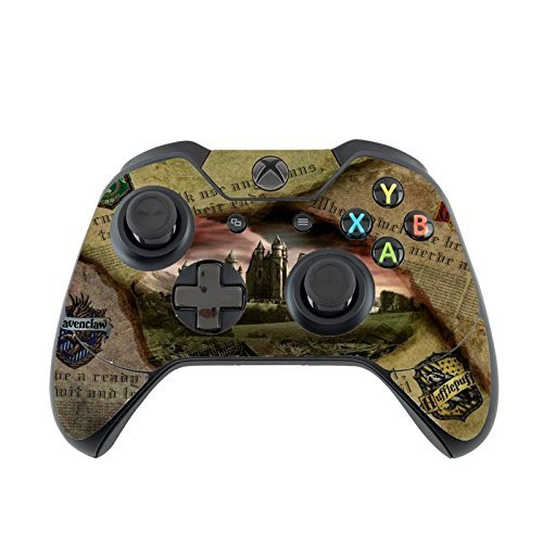 Hufflepuff Gryffindor Hogwarts Slytherin Ravenclaw Newspaper Design Pattern Print Xbox One Controller Vinyl Decal Sticker Skin by Trendy (Slytherin Symbol)