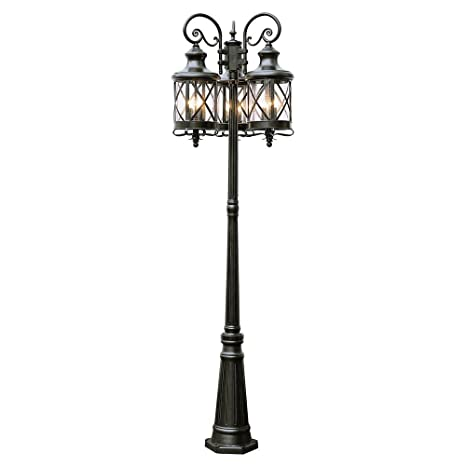 Amazon trans globe lighting 5127 rob outdoor chandler 81 pole trans globe lighting 5127 rob outdoor chandler 81quot pole light rubbed oil bronze workwithnaturefo