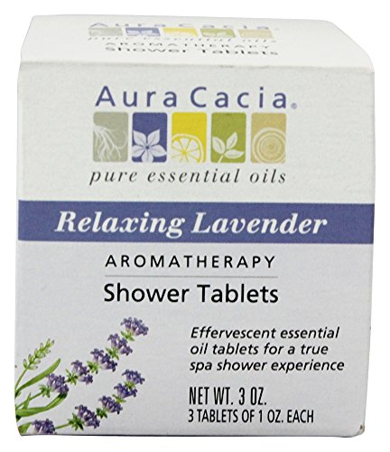 Shower Tablets Relaxing Lavender Aura Cacia 3 Pack Shower Tabs