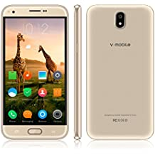 Unlocked Cell Phone,V Mobile J5-N 5.5 Inch 8GB ROM Android 7.0 Dual Sim 5MP Camera 3G Smartphone Cheap and Fine Quad-core Supports WI-FI Bluetooth GPS for at&T T-Mobile(Gold)