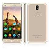 Unlocked Cell Phone,V Mobile J5-N 5.5 inch 8GB ROM Android 7.0 Dual Sim 5MP Camera 3G Smartphone Cheap Fine Quad-core Supports WI-FI Bluetooth GPS at&T T-Mobile(Gold)