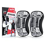 RockTape Assassins Knee Sleeves - Choice of 5mm or 7mm Thickness - Support and Compression for Weightlifting Training Racing Running Cycling Powerlifting Crossfit Squatting - For Men and Women