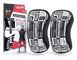 RockTape Assassins 5mm Knee Sleeves (2 Sleeves), Medium (Fits 13.5-14.5 Inches), Manifesto