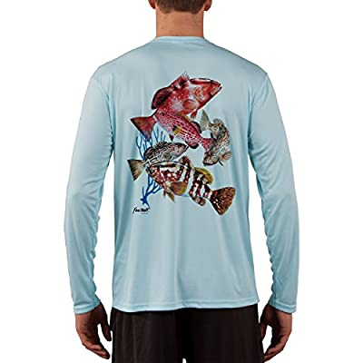 KEVIN BRANT Grouper Montage Men's UPF 50+ Performance T-shirt