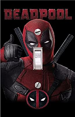 DEADPOOL - Light switch Cover- DEADPOOL- Switch Plate Cover-Wall plate cover